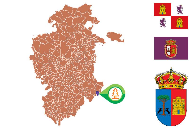 Canicosa de la Sierra Mapa