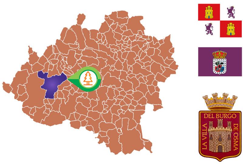 El Burgo de Osma mapa