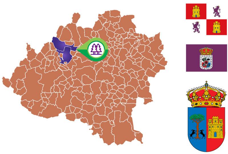 Cabrejas del Pinar mapa