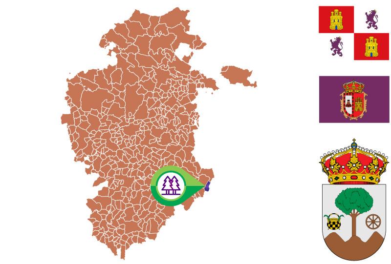 Regumiel de la Sierra Mapa