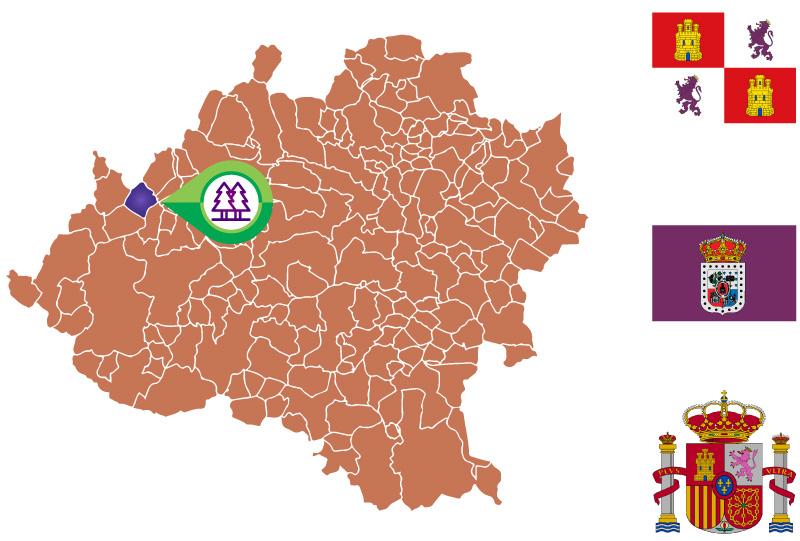 Santa María de las Hoyas Mapa