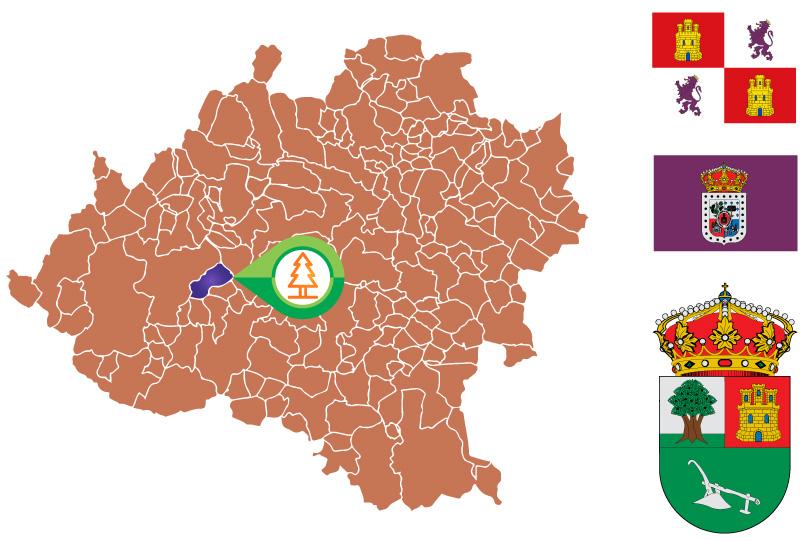 Valdenebro Mapa
