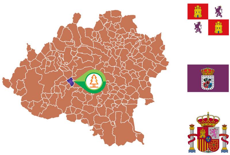 Valderrodilla Mapa