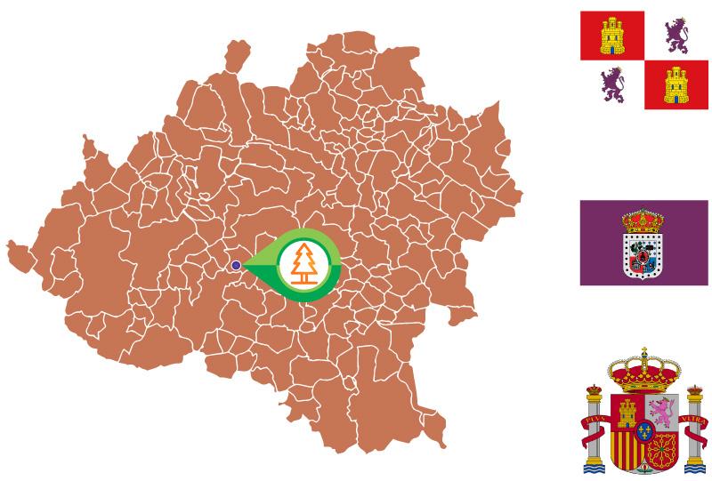 Valderrueda Mapa