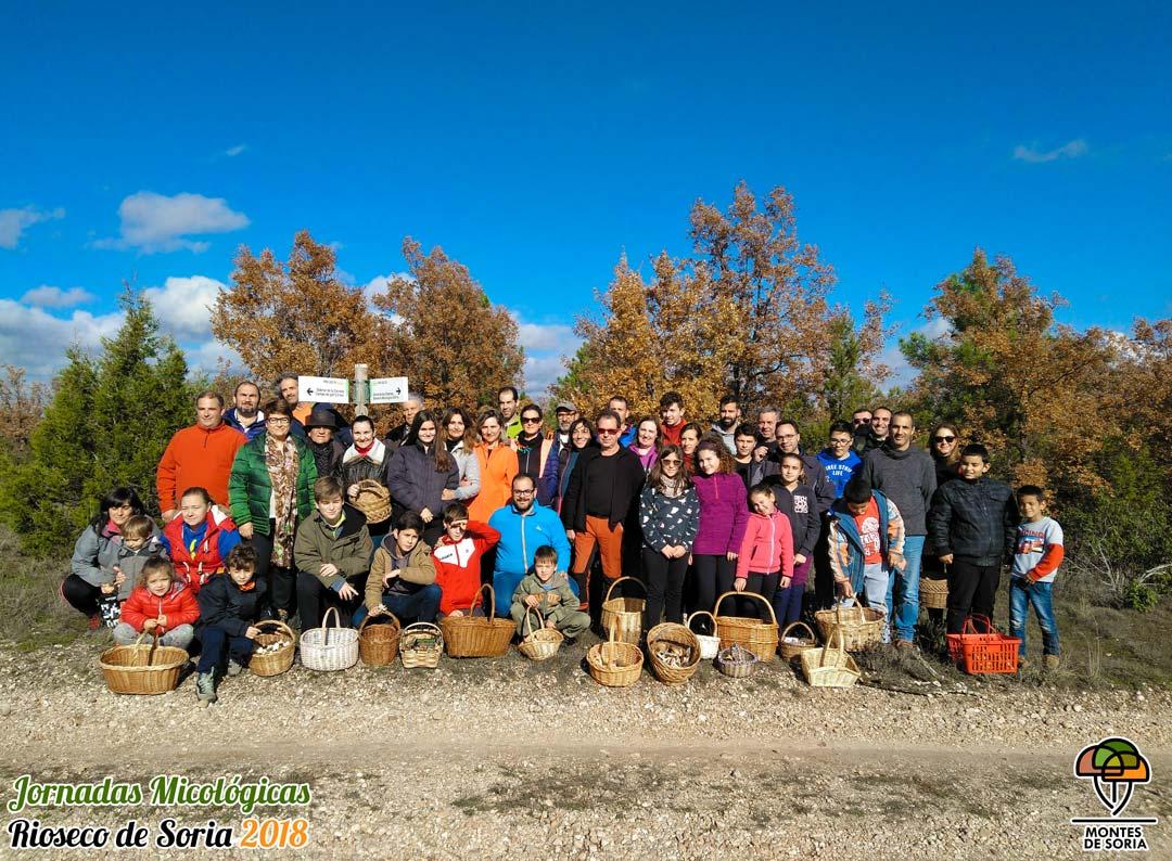 Jornadas Micológicas Rioseco de Soria 2018 grupo