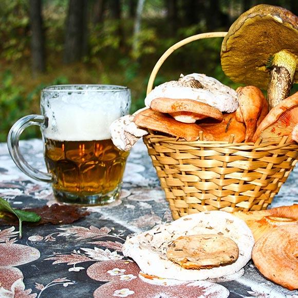 Maridaje setas y cerveza