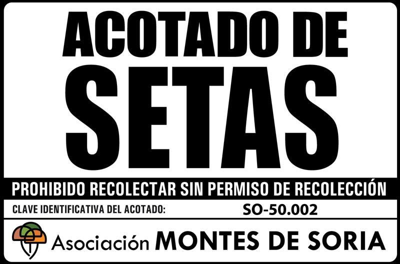 Señal Acotado de Setas Montes de Soria