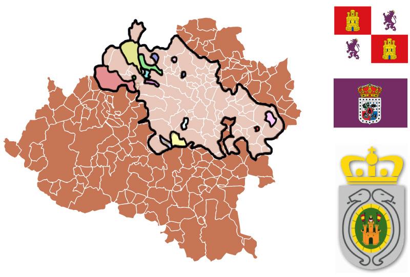 Mancomunidad de los 150 pueblos mapa