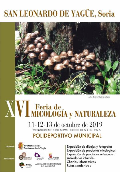 Jornadas Micológicas San Leonardo de Yagüe 2019 cartel