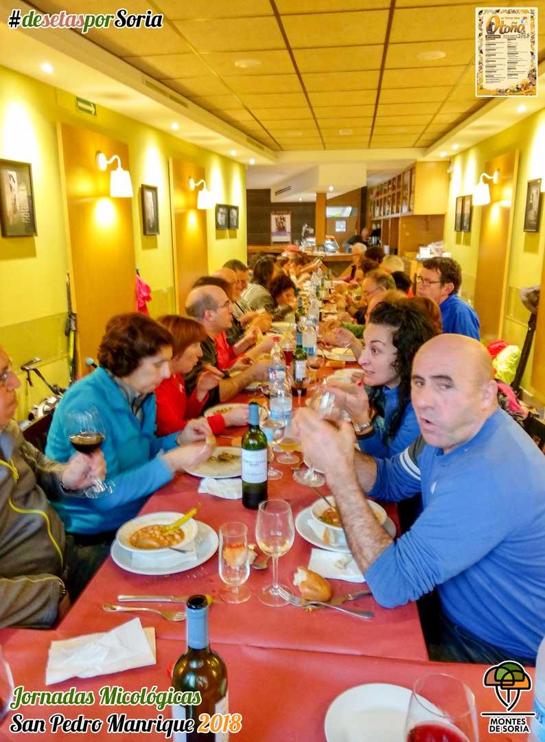 Jornadas Micológicas San Pedro Manrique 2018 comida