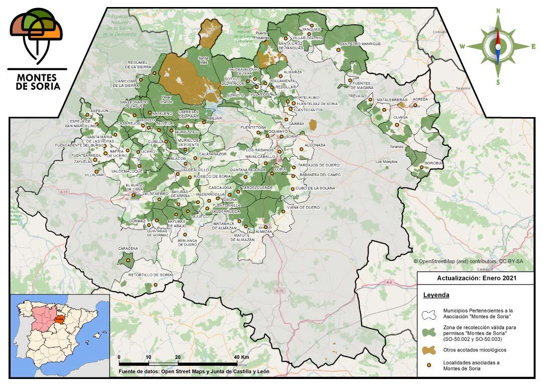 Mapa zonas reguladas Enero 2021