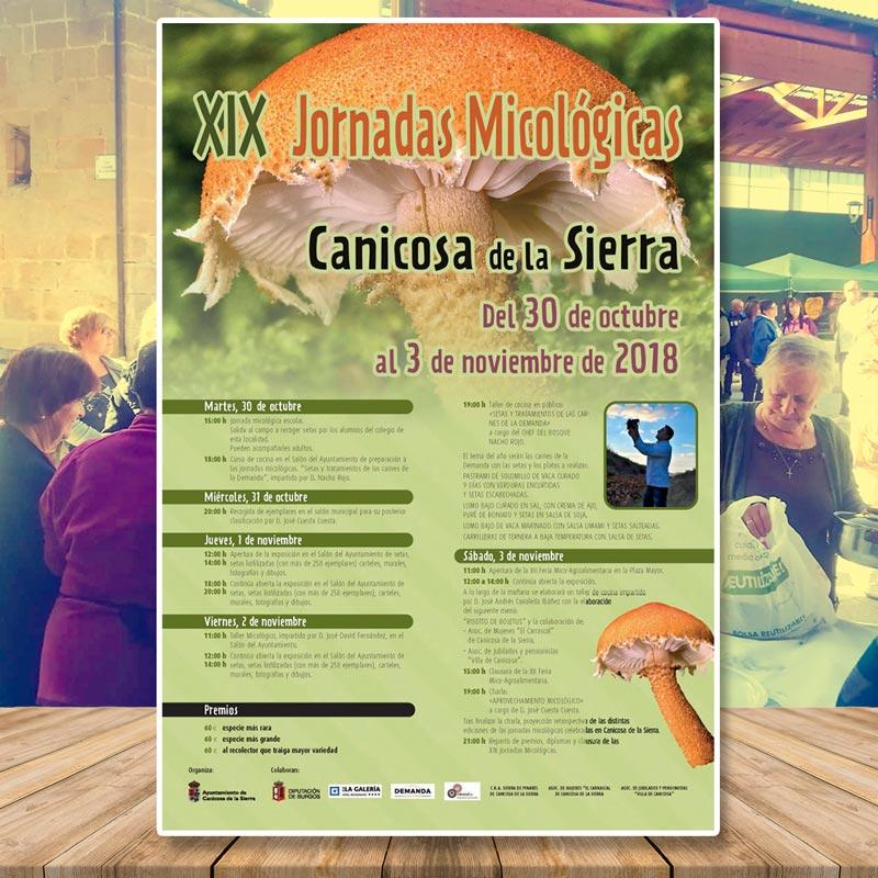 Jornadas Micológicas Canicosa de la Sierra 2018 portada