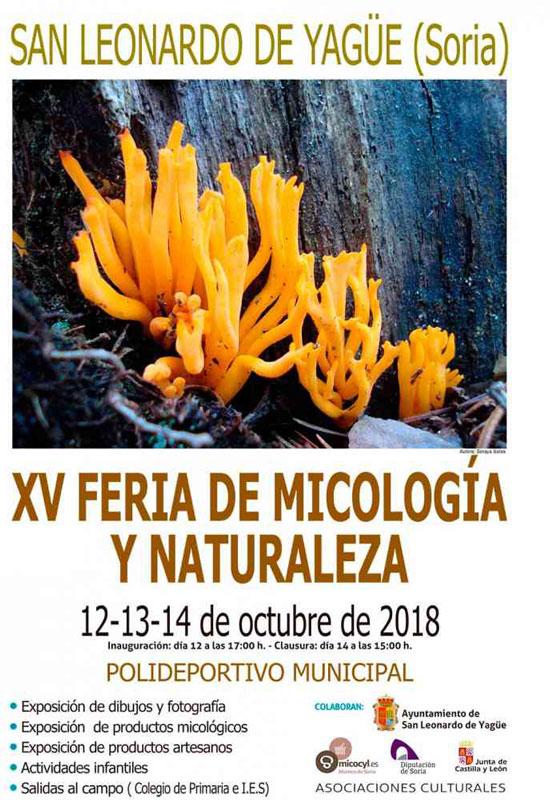 Jornadas Micológicas San Leonardo de Yagüe 2018 cartel web