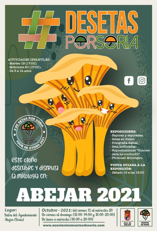 De setas por Soria - Abejar 2021 cartel